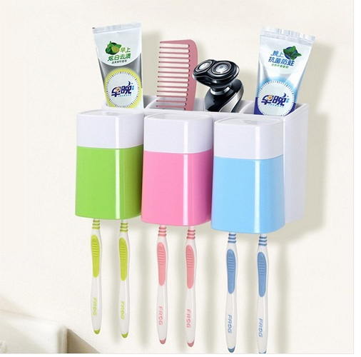 Eslite Wall Mounted Toothbrush Holders For Bathroom Storage Organizer