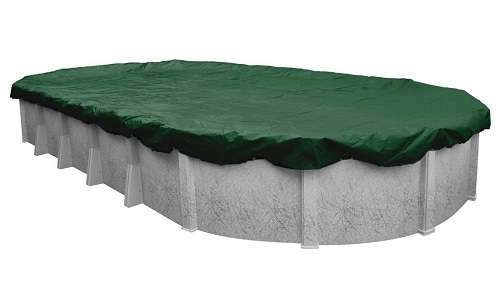 Robelle 371833 4 Supreme Winter Cover for 18 by 33 Foot Oval Above
